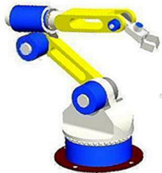 六自由度串联机器人负载为6公斤,工作半径最大为1.